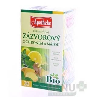 APOTHEKE BIO Selection zázvor, čaj s citrónom a mätou 20 x 1,5 g
