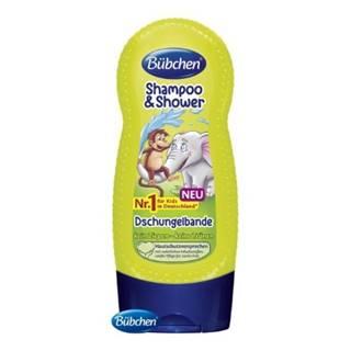 BÜBCHEN Kids šampón a sprchový gél 2v1 partička z džungle 230 ml