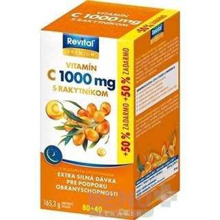 REVITAL Premium vitamín C 1000 mg s rakytníkom 80 + 40 tabliet ZADARMO