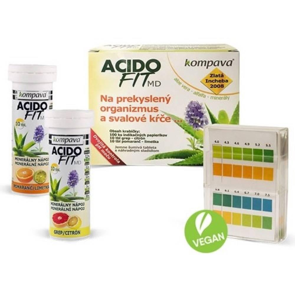 Kompava KOMPAVA Acidofit MD mix 20 šumivých tablliet + indikačný papierik