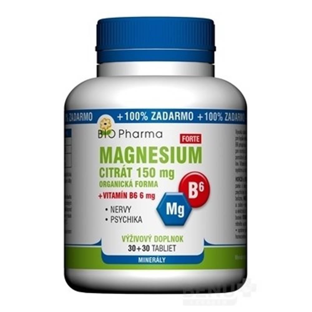 Laverna trade, s.r.o. (SVK) BIO Pharma magnesium citrát 150 mg + vitamín B6 30 + 30 tabliet ZADARMO