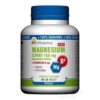 BIO Pharma magnesium citrát 150 mg + vitamín B6 30 + 30 tabliet ZADARMO