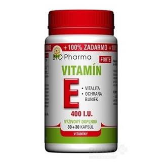 BIO Pharma vitamín E forte 400 I.U 30 + 30 kapsúl ZADARMO