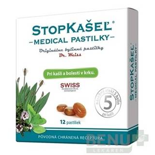DR. WEISS Stopkašeľ medical 12 pastiliek