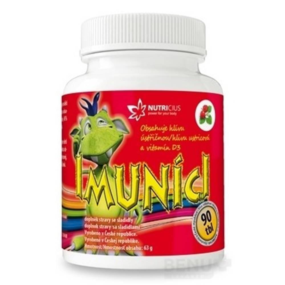NUTRICIUS s.r.o. IMUNÍCI Hliva ustricová s vitamínom D3 pre deti 90 tabliet