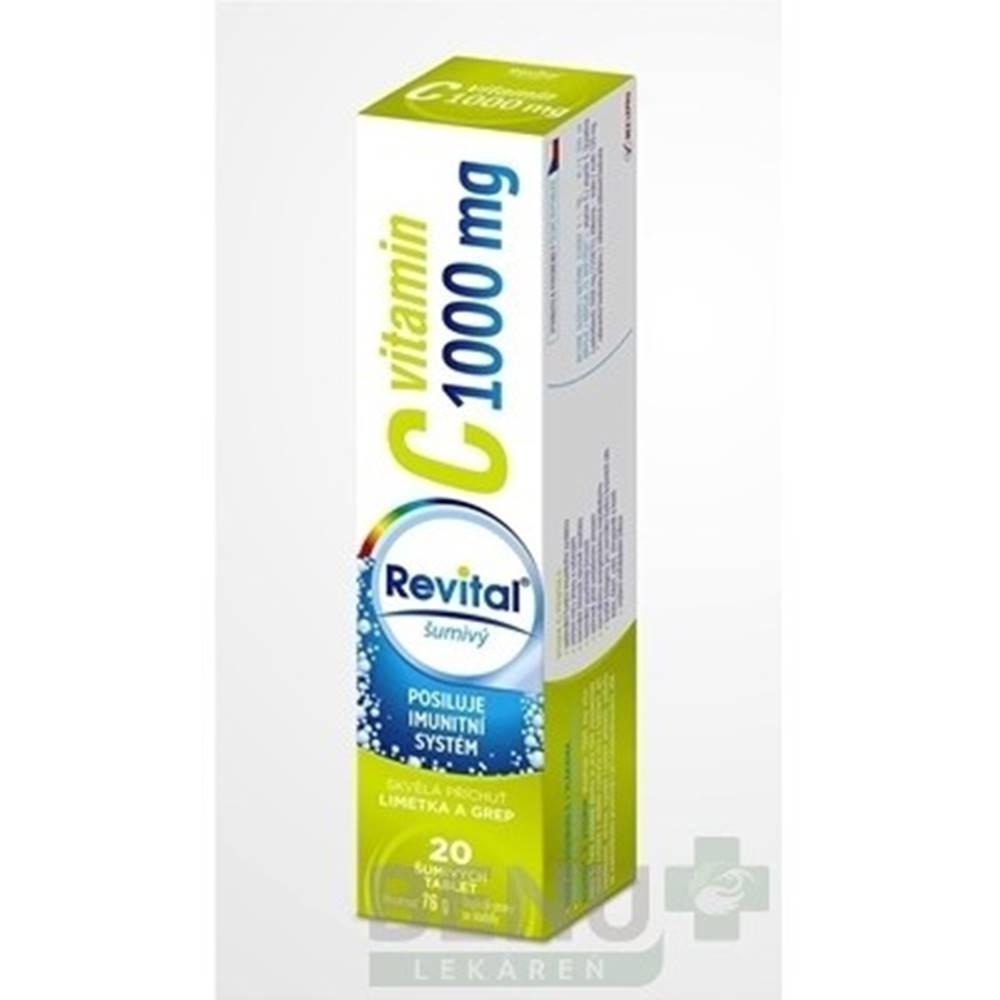 Revital REVITAL Vitamín C 1000 mg limetka a grep 20 šumivých tabliet