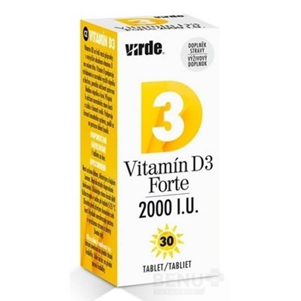 Virde VIRDE Vitamín D3 Forte 2000 I.U. tbl 30