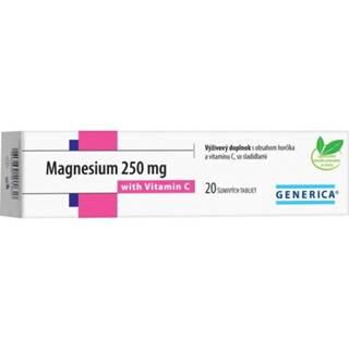 GENERICA Magnesium 250 mg + vitamín C 20 šumivých tabliet