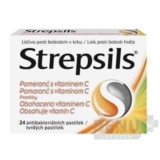 STREPSILS Pomaranč s vitamínom C 24 tvrdých pastiliek