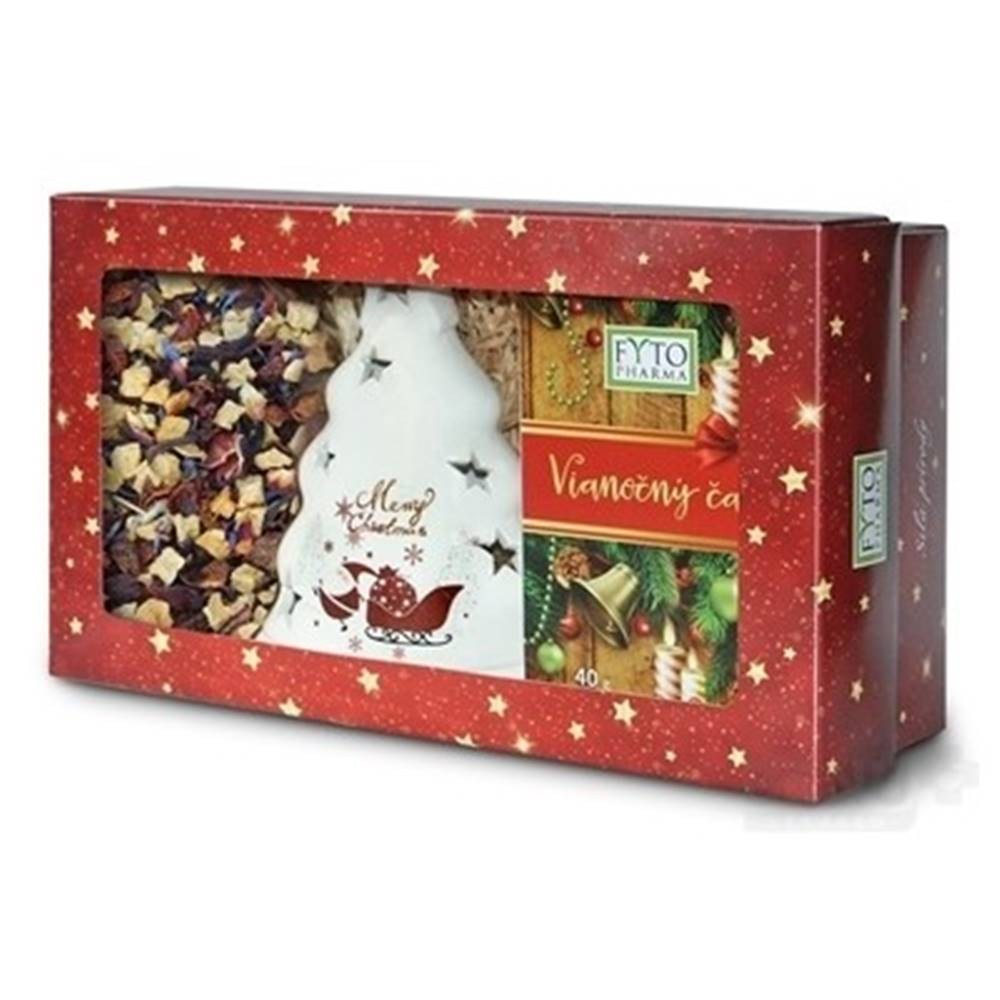 Fytopharma FYTO Darčeková kazeta Vianočný čaj sypaný 100 g + porciovaný 20 x 2 g + svietnik