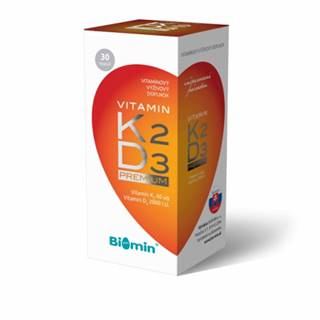 Biomin Vitamín K2 + vitamín D3 Premium 30 cps