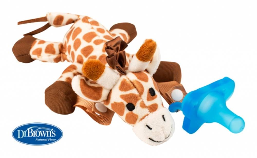 DrBrown´s Držiak na cumeľ a hryzadlo 0M+ žirafa
