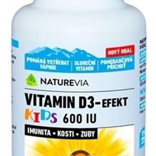 Swiss Naturevia vitamin d3-efekt kids 600 i.u.