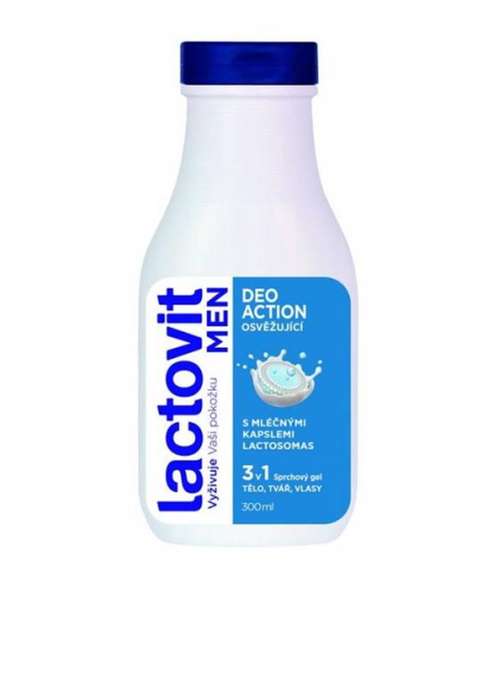 Lactovit Lactovit MEN DeoACTION 3v1 Sprchový gél