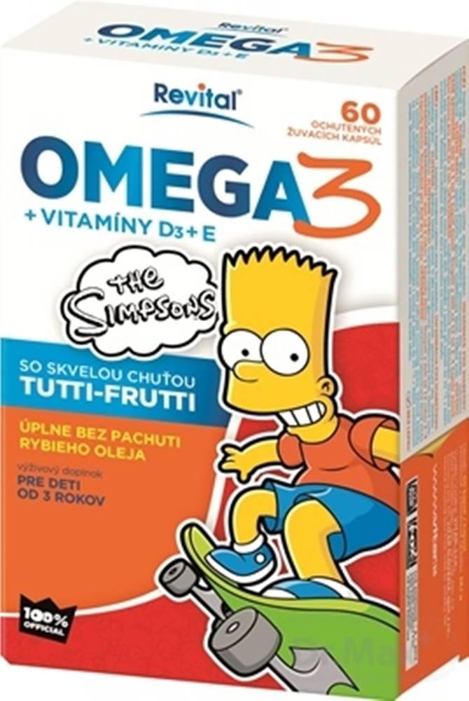 Revital Revital Omega 3 + vitamÍny d3 + e the simpsons