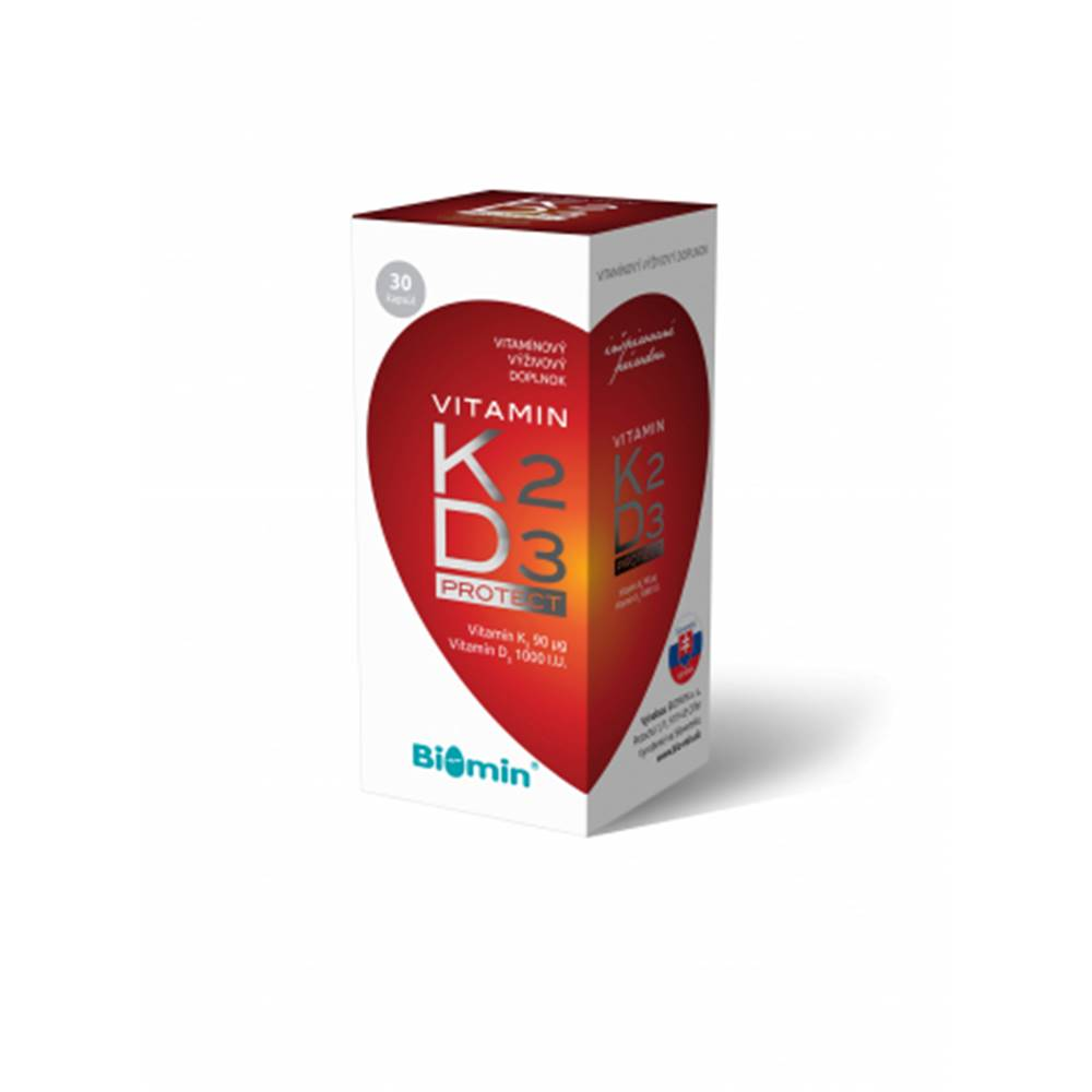 BIOMIN, a.s. Biomin Vitamín K2 + vitamín D3 Protect 30 cps