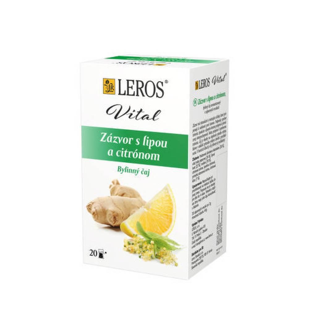 Leros, s.r.o. LEROS Zázvor s lipou a citrónom bylinný čaj 20x2 g (40 g)
