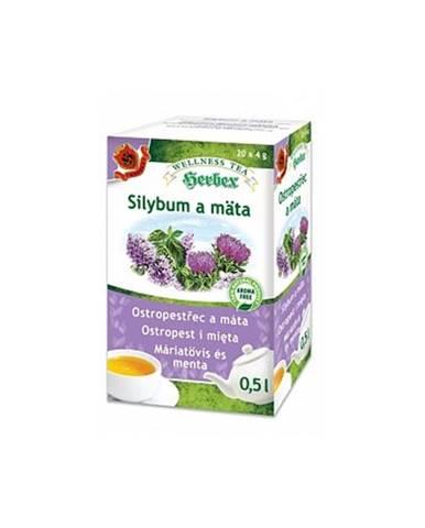 Herbex Silybum a mäta porciovaný čaj 20x4g