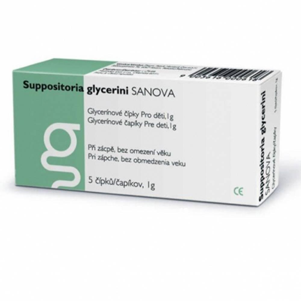 Medindex, spol. s r.o. SANOVA Suppositoria glycerini pre deti 1g glycerínové čípky 5 ks