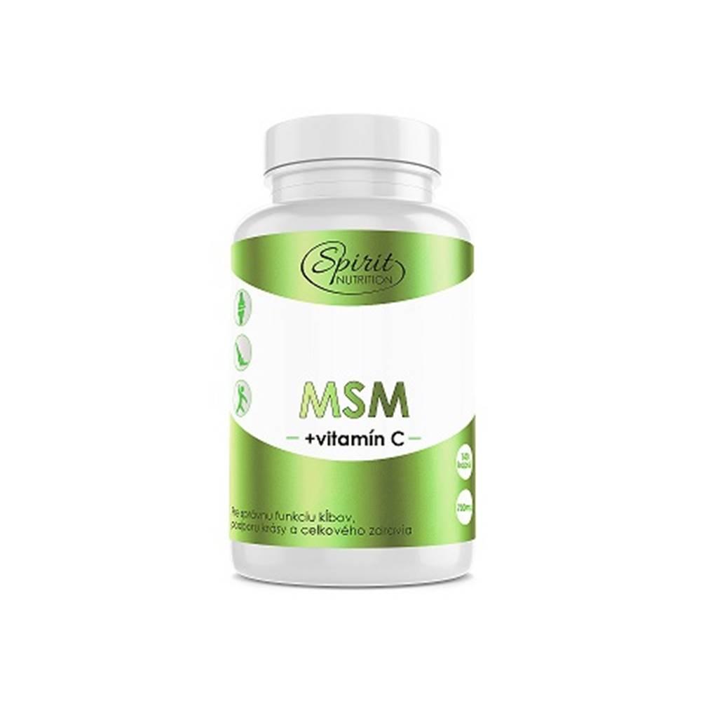Spirit Nutrition Spirit Nutrition MSM + vitamín C 140 kapsúl